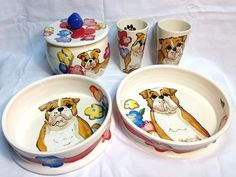Dog Lover 5 piece Ceramic Gift Set (any color/any breed)