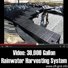 This 4-minute time-lapse video by Innovative Water Solutions, LLC shows the construction process for a large underground rainwater harvesting system! The giant water tank is made from modules that are extremely strong – the video shows us that even with a small layer of earth on top, a sizeable bulldozer can drive over them!