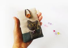 Cat cell phone sleeve Cell phone case iPhone cover by DooDesign, $17.90