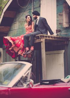 Photo by -Bangap- (can I just flail over how his socks match her lengha?)