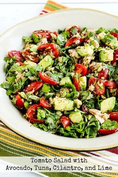 I think this Tomato Salad with Avocado, Tuna, Cilantro, and Lime is the perfect lunch on a hot summer day. And this tasty salad is dairy-free, gluten-free, low-glycemic, Paleo, Whole 30, and South Beach Diet friendly, and you could use less tomatoes if you wanted to make it lower in carbs! Use the Recipes-by-Diet-Type Index …
