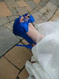 something blue wedding shoes for the bride