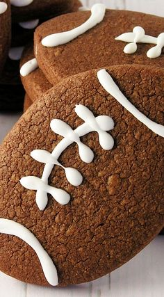 Chocolate Football Cookies Recipe