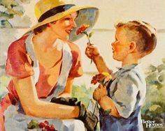 Vintage Cover of mother and child