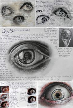 Eyes by Elena Tomas Bort, completed as part of Unit 3, Edexcel A Level Art at the Laude British School of Vila-real, Spain.