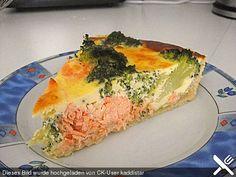 Brokkoli - Lachs - Quiche, ein sehr leckeres Rezept aus der Kategorie Fisch. Bewertungen: 71. Durchschnitt: Ø 4,1.