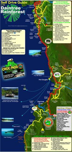 Daintree Rainforest Map We didn't drive this one we went up on tram and came down a different way on the train, this was a great adventure