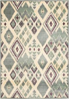Safavieh 2 x 7 Paradise Grey and Multi-Colored Power Loomed Viscose Traditional Rug