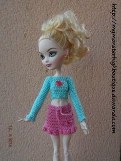 Conjunto para Ever after high E63 de My Monster High boutique por DaWanda.com