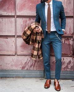 not the normal blues and browns // suit, menswear, mens style, mens fashion, blue suit, monkstrap, groom