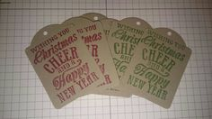 Pack of Christmas gift tags - pinned by pin4etsy.com