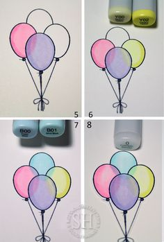 Tutorial: Coloring Balloons / Transparent Objects - stampTV
