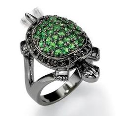 @Overstock - Cubic zirconia and glass turtle ringBrass jewelryClick here for ring sizing guidehttp://www.overstock.com/Jewelry-Watches/Lillith-Star-Black-Ruthenium-Cubic-Zirconia-and-Glass-Turtle-Ring/6189100/product.html?CID=214117 $38.99