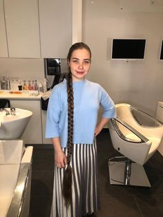 Dasha plaited at the hairdressers Two Braids, Long Braids, Beautiful Braids, Beautiful Long Hair, Cut My Hair, Long Hair Cuts, Super Long Hair, Plaits, Braided Hairstyles