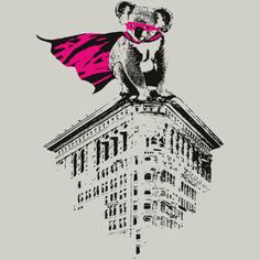 Super Koala is a T Shirt designed by radiomode to illustrate your life and is available at Design By Humans