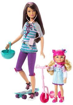 Barbie Sisters 2 Pack - Sisters Skateboard Skipper & Chelsea
