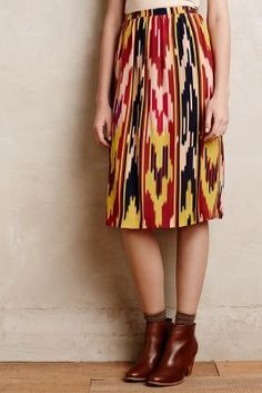 Lauren Moffatt Ikat Silk #Skirt #anthrofave