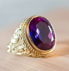 Bishop's Ring, 18K Gold with Amethyst