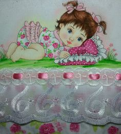 Vintage Flowers Wallpaper, Flower Wallpaper, Decoupage, Little Babies, Baby Shower, Embroidery, Crafts For Children, Cute Paintings, Embroidered Baby Blankets