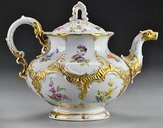 (4) Pc Dresden Porcelain Tea Set