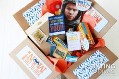 Manly care package for him- printables included
