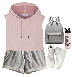 """-"" by emilypondng ❤ liked on Polyvore featuring H&M and adidas"