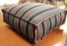 How-to-Make-a-French-Mattress-Style-Cushion-36 | DIY Projects & Crafts by DIY JOY at http://diyjoy.com/diy-furniture-outdoor-cushion-covers