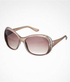 Rhinestone Temple Round Sunglasses