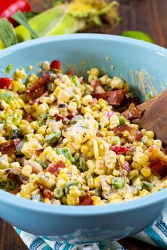 Corn Salad Recipes, Corn Salads, Red Jalapeno, Summer Side Dishes, Chipotle Pepper, Stuffed Poblano Peppers, Chopped Salad, Grilled Chicken, Food Hacks