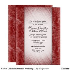 Marble Columns Marcella Wedding Invitations 60% off