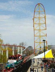Top Thrill Dragster coaster at Cedar Point Amusement Park