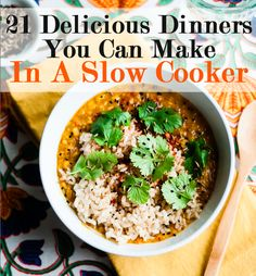 21 Fall Dinners You Can Make In A Slow Cooker // I love me some slow cooker recipes! :)