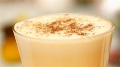 This recipe creates a rich and creamy eggnog laced with delicious butterscotch schnapps. No Cook Desserts, Delicious Desserts, Dessert Recipes, Eggnog Recipe, Schnapps, Recipe Collection, Milkshake, Cold Drinks, Glass Of Milk