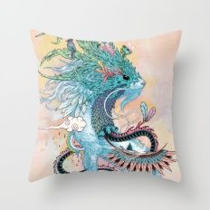 Journeying Spirit (ermine) Throw Pillow