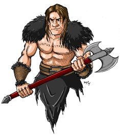 Throm the Barbarian from the Fantasy Fiction podcast. Go check them out!