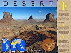 Poster: Desert Biome - Pictures and text describe the desert biomes found in North and South America, Africa, Asia and Australia Desert Biome, Process Of Change, North And South America, Biomes, Monument Valley, Mount Rushmore, Asia, Science, Australia