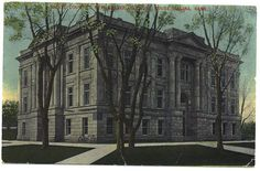 Salina Kansas Postcard Saline Court House Town by VintageBarrel, $5.00