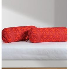 Blazing Bolster Cover- As fiery as red is, there is nothing more attractive than a red color. Bolster Covers, Red Color, Cotton