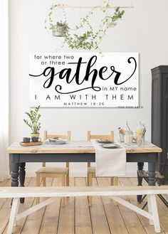 Personalized Kitchen Sign Custom Signs Rustic Canvas Print Dining Room Sign Farmhouse Home Deco Dining Room Wall Decor, Dining Room Design, Home Decor Wall Art, Kitchen Decor, Room Decor, Kitchen Ideas, Dining Room Feature Wall, Art Decor, Kitchen Living