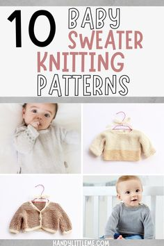 Baby sweater knitting patterns for all skill levels. Find a pattern for a baby sweater or baby cardigan from newborn size up to toddler age. #babyknitting #babysweater #babycardigan #knitting #freepatterns Knitted Dog Sweater Pattern, Baby Sweater Patterns, Baby Patterns, Crochet Patterns, Free Knitting Patterns For Women, Knitting For Kids, Knitting Projects, Baby Sweaters, Toddler Age