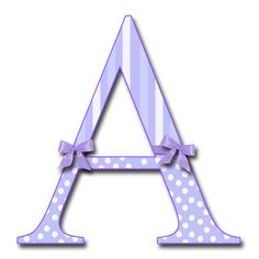 """GRANNY ENCHANTED'S BLOG: """"Purple Fluff with Bows"""" PNG Free Scrapbook Alphabet"""