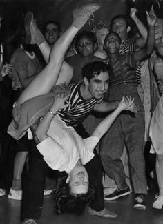 """Swing dancing at the Dunbar Hotel in 1940s Los Angeles, this fellow was the """"King Dipper"""" Gil Fernandez with his partner Venna Cacson"""