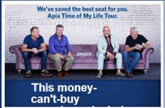Win A Tickets To The Apia Time Of My Life Concert Money Cant Buy, Win Tickets, Rock Concert, Of My Life, Have Fun, Tours