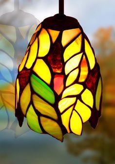 Tiffanylampor Polarfox - Fönsterlampa Oak