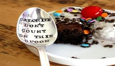 Calories Don't Count on This Spoon Recycled Silverware, Bar Fancy, Kitchen Spoon, Stamped Spoons, Sugar Spoon, Coffee Spoon, Unusual Gifts, Food Grade, Safe Food