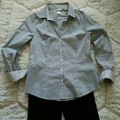 H&M  Black&White Stripes SHIRT H&M Black and White Stripes Shirt. Worn ones.  Size 10 H&M Tops Button Down Shirts