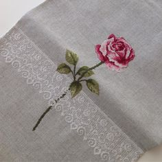 This Pin was discovered by Kar Hand Embroidery Videos, Lace Embroidery, Cross Stitch Embroidery, Cross Stitch Patterns, Embroidery Designs, Butterfly Cross Stitch, Cross Stitch Rose, Cross Stitch Kitchen, Bargello