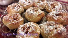 Μηλοπιτάκια με το μαγικό ζυμαράκι της Αργυρώς - Γιαγιά Μαίρη Εν Δράσει Bagel, Doughnut, Muffin, Food And Drink, Sweets, Bread, Apple, Breakfast, Brot
