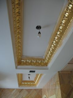 Felber Ornamental - Perfecting the art of Ornamental Plaster since 1939 Gypsum Ceiling Design, Pop Ceiling Design, Ceiling Design Living Room, Roof Ceiling, Ceiling Decor, Gold Painted Walls, House Outer Design, Gold Sheets, Front Elevation Designs