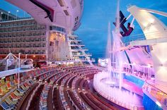 Aqua Theater onboard Allure and Oasis of the Seas